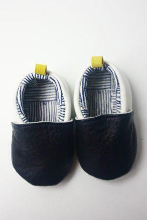 chaussons bébé en cuir kapoune arty