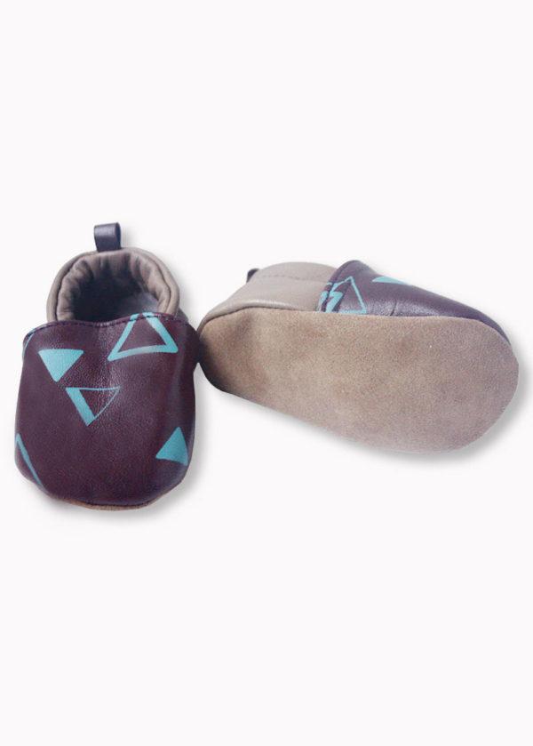 chaussons bébé made in france cuir souple créateur