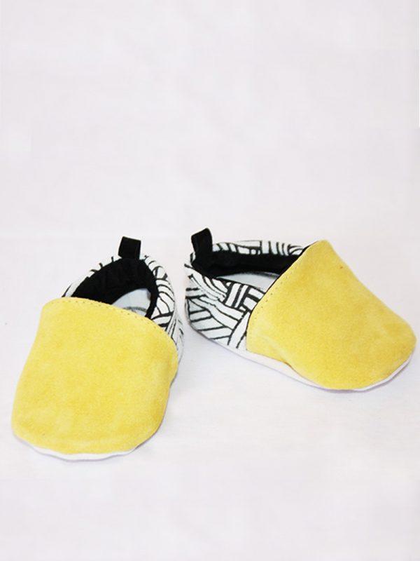 chaussons bébé en cuir kapoune