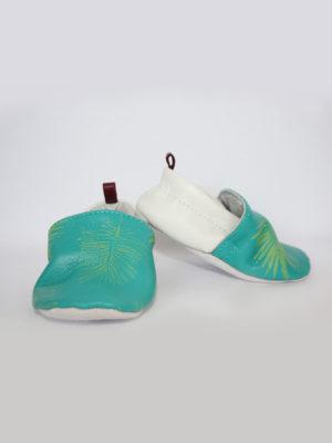 chaussons bébé en cuir kapoune tropical