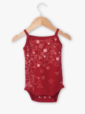 body bébé créateur bretelle rouge made in france