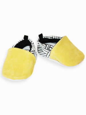 chaussons bébé cuir souple made in france