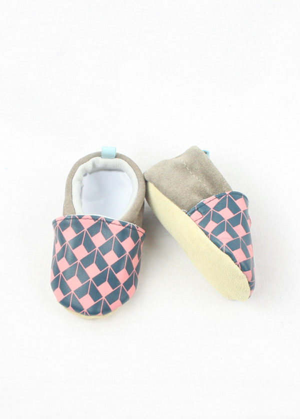 chaussons bébé cuir made in france