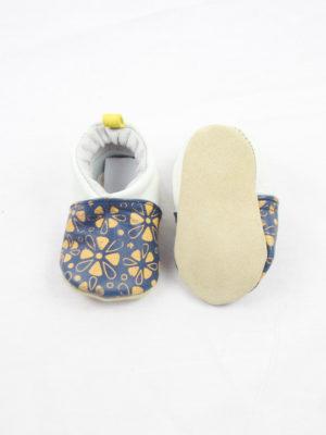 chausons bébés en cuir souple imprimé sérigraphie nantes kapoune souk mixte