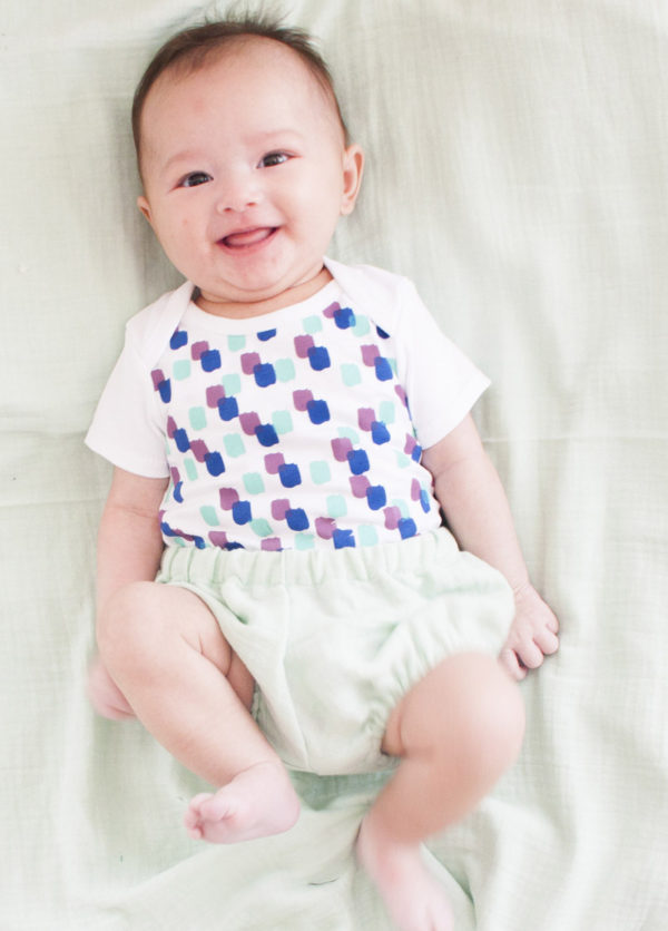 body bébé coton imprimé confetti