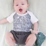 body bébé coton imprimé tropical