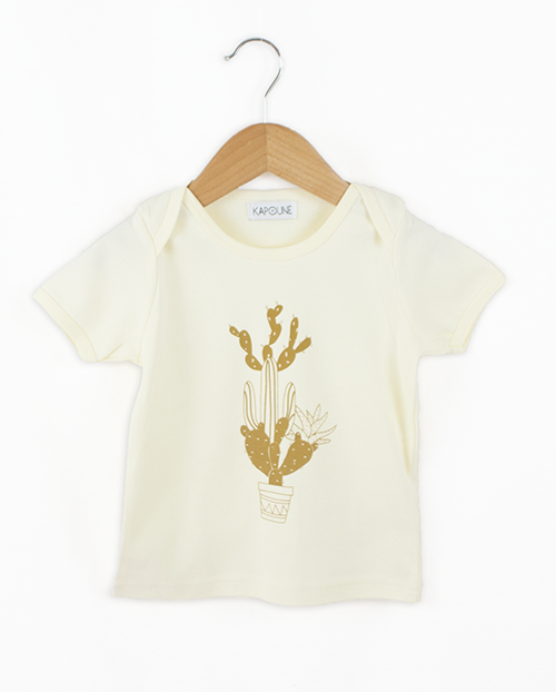 Tee-shirt Cactus ocre Kapoune