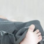 Langes bébé mousseline kaki imprimé tropical
