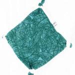 doudou plat pour bébé lagon bleu made in france