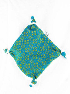 doudou plat pour bébé souk bleu made in france