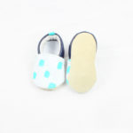 chaussons bebe cuir souple motif confetti kapoune nantes made in france