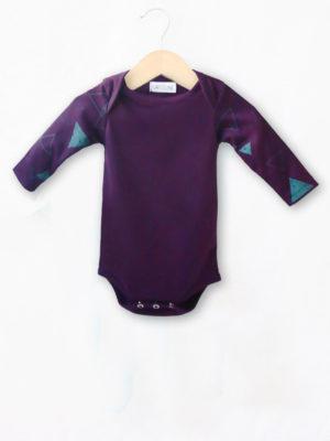 body bébé créateur made in france mixte violet