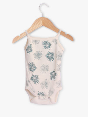 body bébé créateur bretelle beige made in france