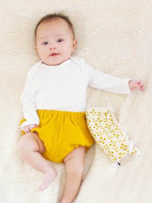 bloomer bébé mousseline de coton ocre