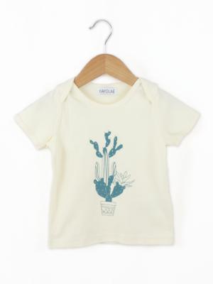 tee shirt bébé bio bleu