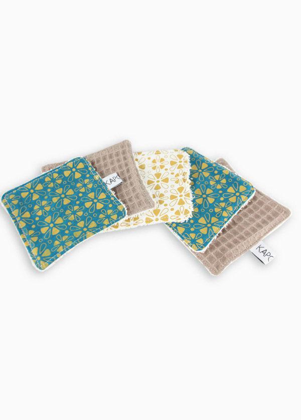 lingettes lavable coton motif souk made in france nantes zéro déchet