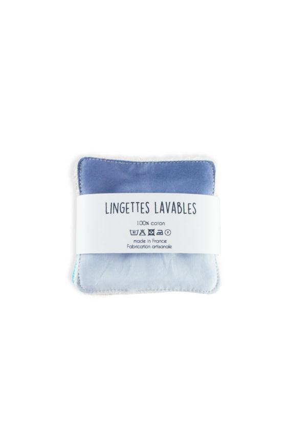 lingettes lavable démaquillante zéro déchet made in france coton bio nantes