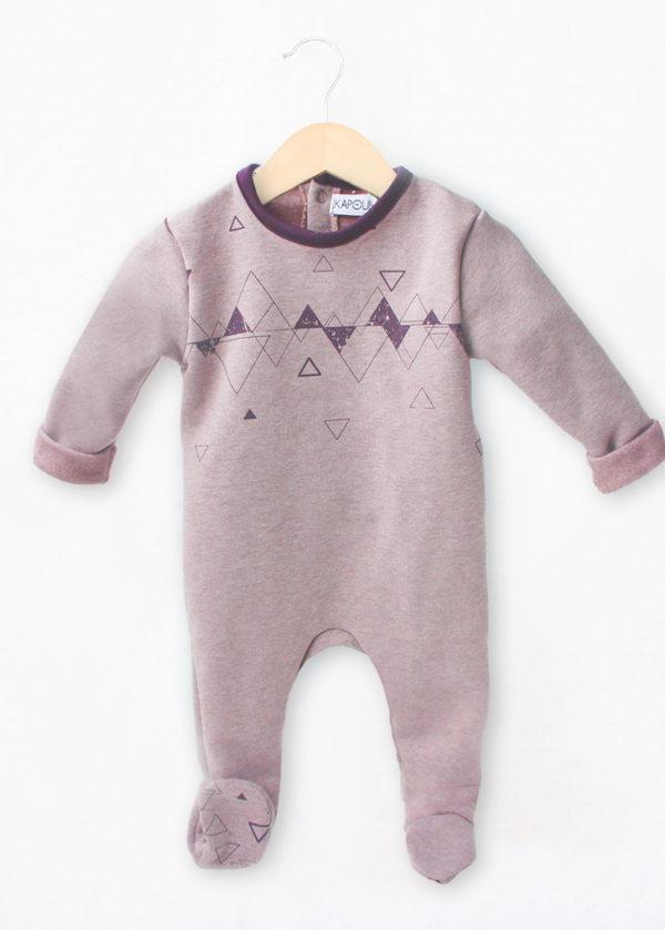 pyjamas dors bien bébé créteur hiver mixte made in france taupe