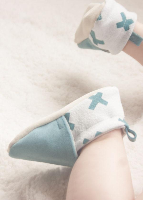chaussons bébé cuir souple créateur mixte made in france kapoune