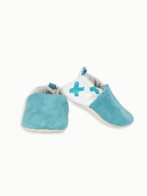 chaussons bébé en cuir souple original kapoune