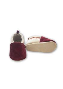 chaussons bebe en cuir