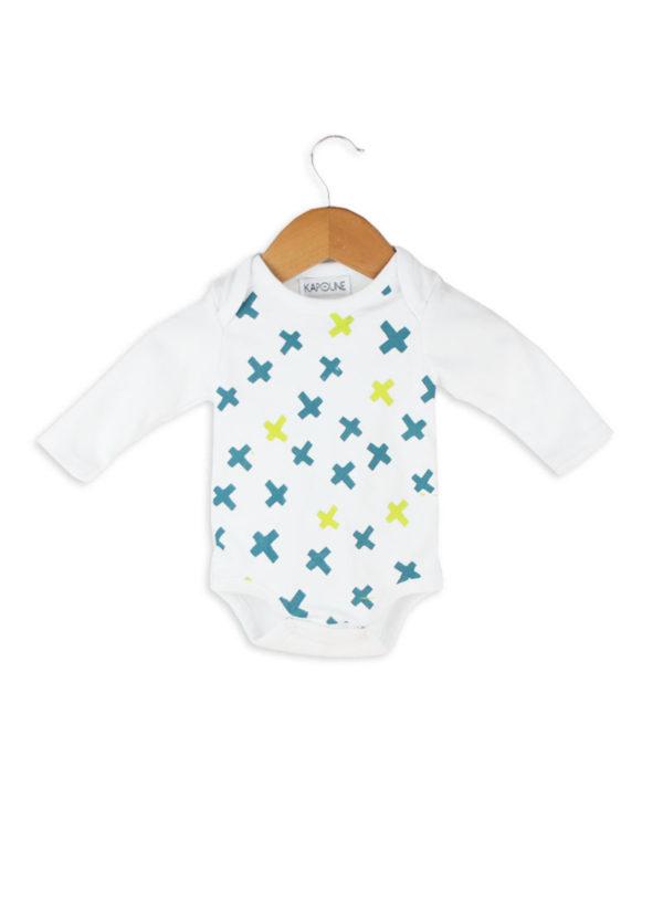 body body bébé vêtement créateur made in france kapoune nantes blanc