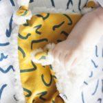 doudou plat bébé en coton bio