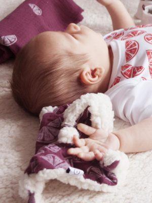 doudou plat pour bébé coloré