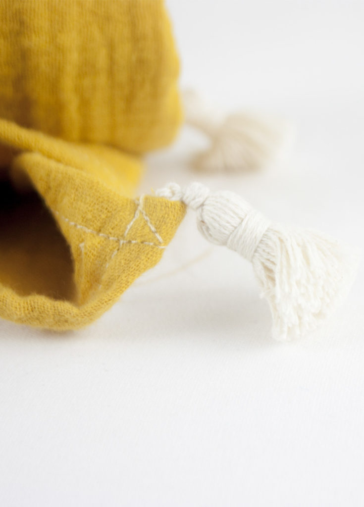 lange bébé coton bio ocre oeko tex made in france
