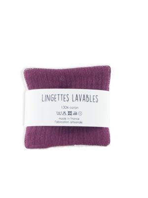 lingettes lavables démaquillantes zéro déchet made in france nantes coton bio biologique slow cosmétic