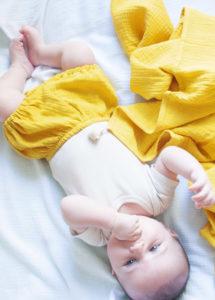 lange bébé coton bio ocre made in france oeko tex kapoune 70