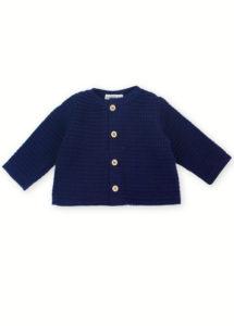 cardingan pull bébé enfant made in france coton bio kapoune marine