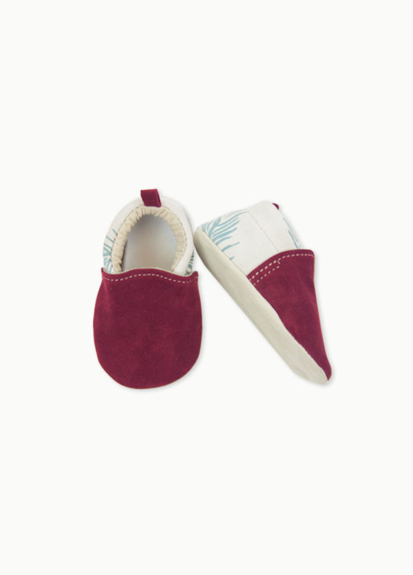 chaussons bébé en cuir made in france