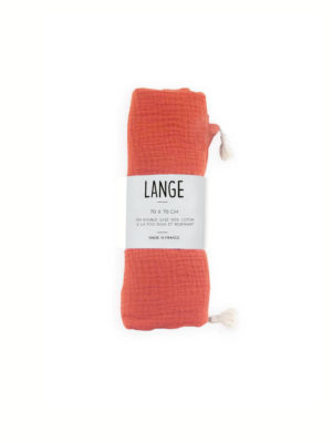 Lange coton bio Made in france kapoune brique
