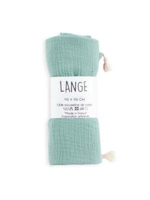 lange bébé maxi coton bio vert