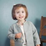 cardigan enfant bébé made di in france coton bio vert