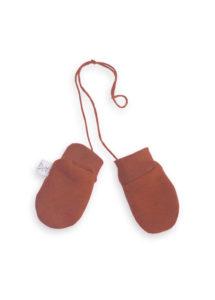 moufles bébé anti griffure brique