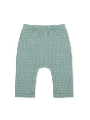 sarouel bébé pantalon enfant nid d'abeille menthe made in france kapoune