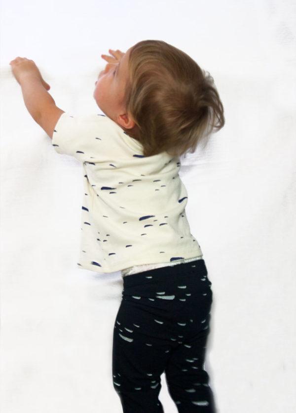legging bébé enfant coton bio marine kapoune