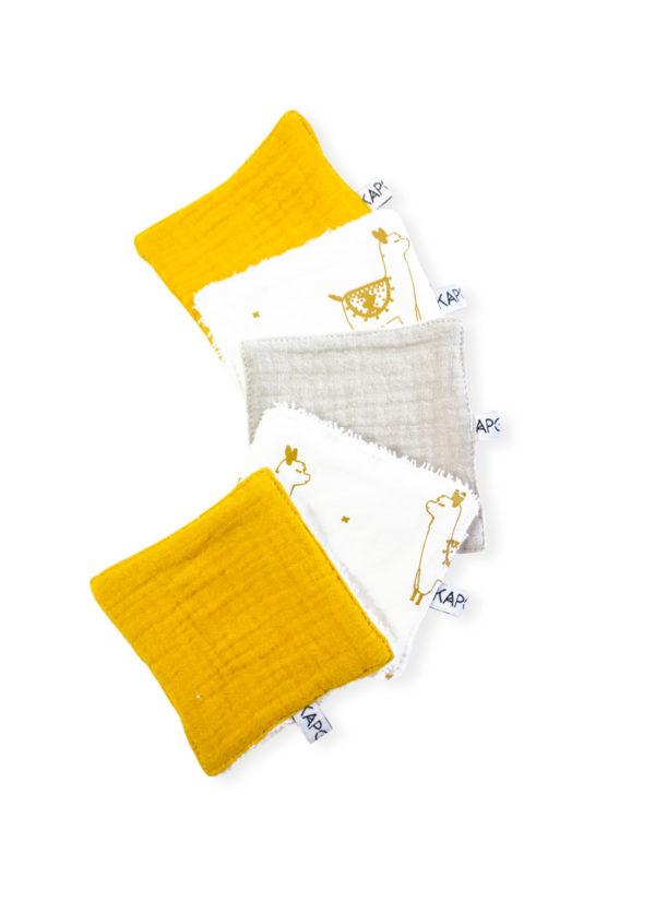 lot-lingette-lavables-coton-lama-demanquillant-zero-dechet-kapoune-nid-d-abeille