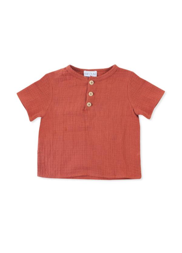 blouse bebe brique originale