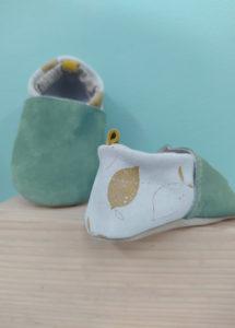 chaussons bébé cuir souple premier pas fabrication francaise kapoune