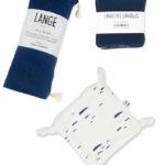 kit naissance bébé coton bio marine made in france