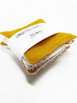 lot lingettes démaquillantes lavables coton bio
