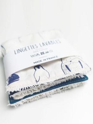 lingettes lavables démaquillante bébé maman made in france coton bio kapoune