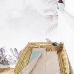 matelas à langer nomade made in france menthe kapoune coton bio