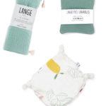 coffret kit accessoires bébé naissance menthe