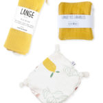 coffret naissance cadeau bébé accessoire ocre