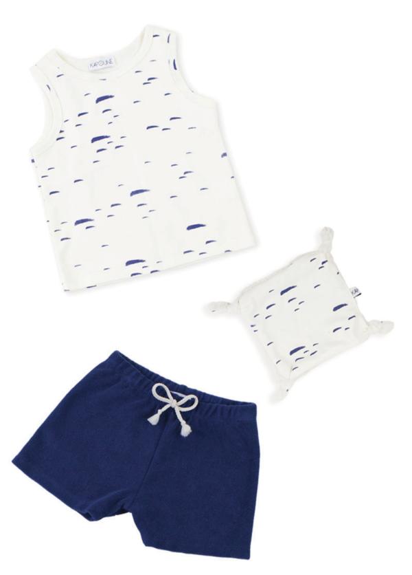 coffret naissance cadeau bébé marine vêtements made in france kaopune