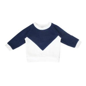 sweat bébé pull enfant marine coton bio made in france
